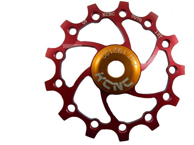 KCNC Jockey Wheel 12T Narrow Wide SS Bearing Long Teeth, rojo